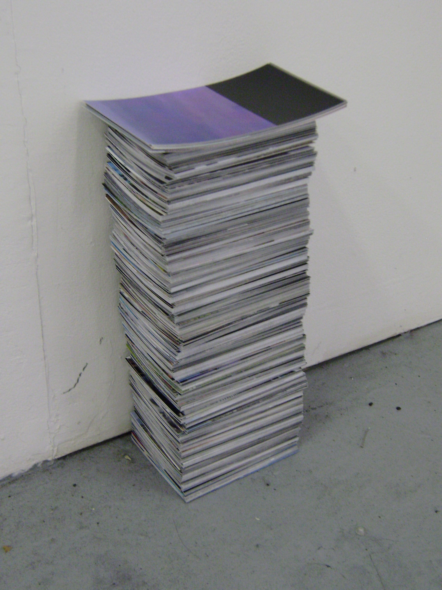 Image of a stack of printed video stills